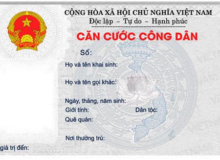 Mặt Trước Thẻ Căn Cước Công Dân (Việt Nam)