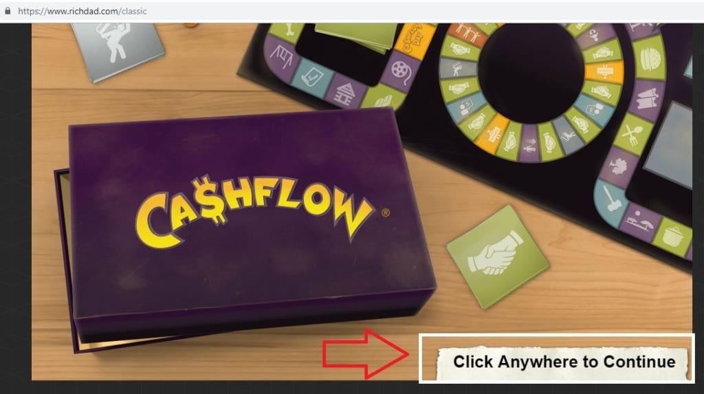 Tạo tài khoản game Cashflow