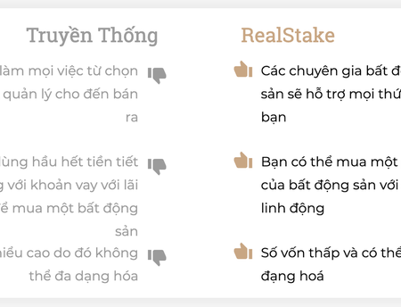 So Sanh Dau Tu Bat Dong San Truyen Thong Va Dau Tu Qua Real Stake – Tiencuatoi.vn