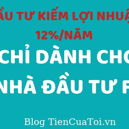 Dau Tu Kiem Lọi Nhuan 12% Danh Cho Nha Dau Tu F0