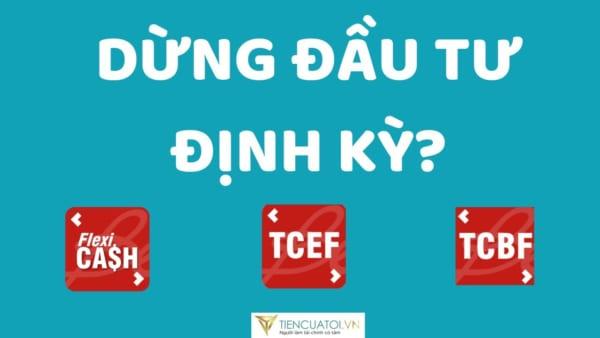 Dừng giao dịch định kỳ đầu tư quỹ TCBF, TCEF, TCFF trong 1 phút tại công ty chứng khoán TCBS