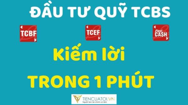 Mua Chứng Chỉ Quỹ đầu Tư TCEF, TCBF, TCFF Kiếm Lời Trong 1 Phút